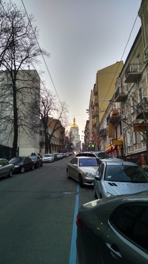 View of St. Sophia's Cathedral from just outside our apartment door.