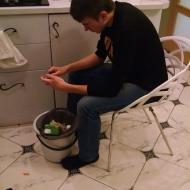 Preparing supper